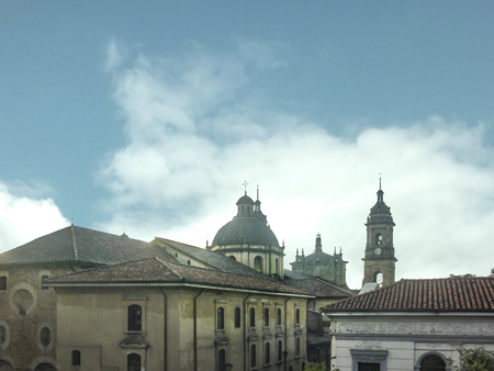 Traditional colonial architecture at historic center of Bogota, the capital city of Colombia in South America
