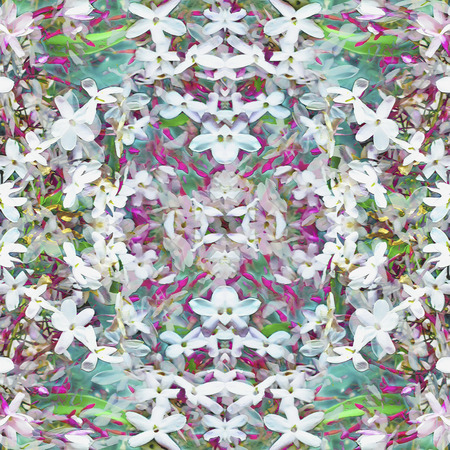mixed colors: Digital collage and manipulation technique  geometric modern floral seamless pattern design in mixed colors.