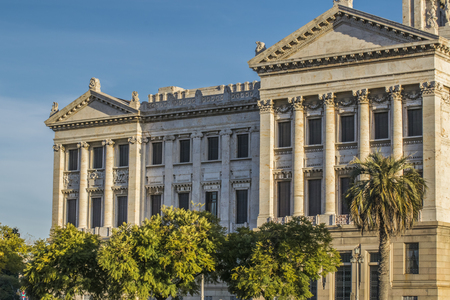 montevideo: Neoclassical style landmark  legislative palace of Uruguay, located in the capital Montevideo Editorial