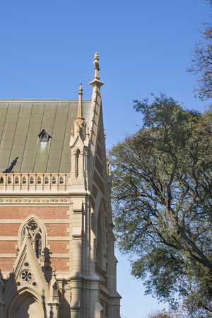 isidro: San Isidro cathedral low angle detail view located in federal capital in Buenos Aires, Argentina Stock Photo