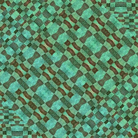 technologic: Digital technique modern abstract geometric check seamless pattern in mixed tones. Stock Photo