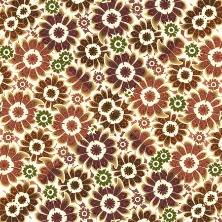 mixed colors: Beautiful pattern background with stylized flowers motif design in vintage pale mixed colors
