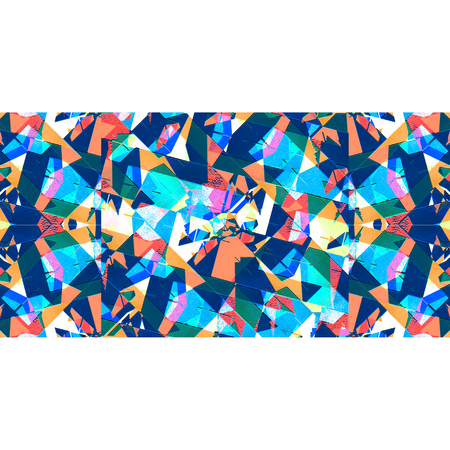 saturated: White background frame with horizontal stripe geometric abstract sharp pattern in vivid and saturated multicolored tones