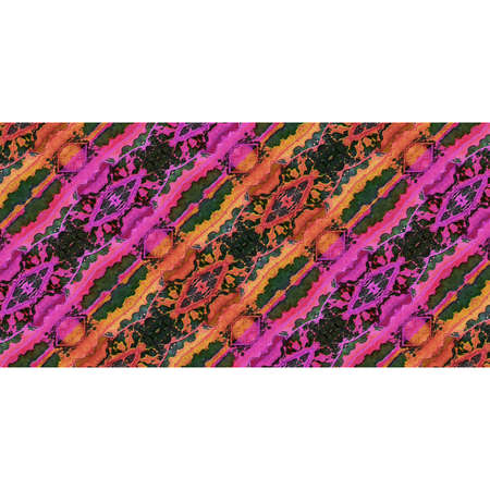 mixed colors: Digital background with horizontal stripes pattern stylized ornate floral motif in vibrant mixed colors