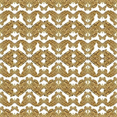 photo collage: Digital photo collage stylized butterflies motif seamless pattern design in brown colors against white background.