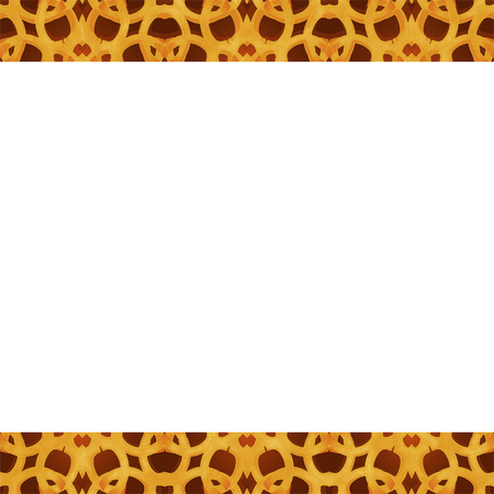 otras palabras clave: Digital art technique arabic or islamic style frame background with decorated geometric ornate arabesque orange borders Stock Photo