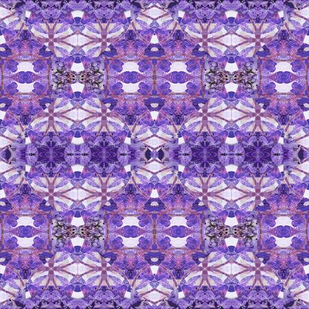 photo manipulation: Digital collage and photo manipulation technique boho style geometric seamless pattern design in mixed cold colors