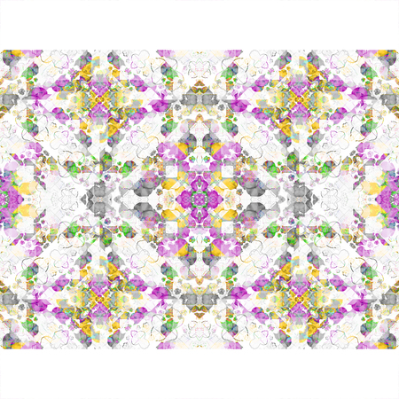 mixed colors: white background with geometric pattern boho style design in mixed colors stripes borders