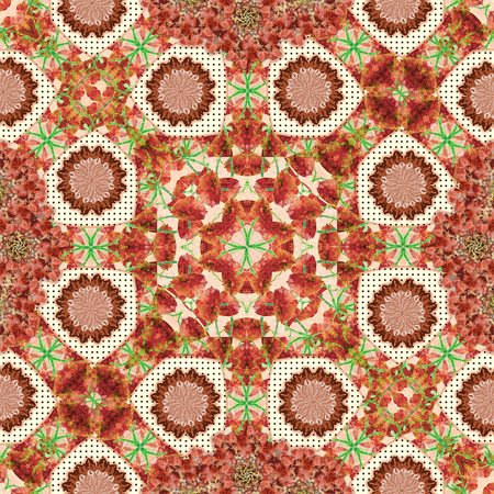 photo manipulation: Digital collage and photo manipulation technique boho style geometric pattern design in mixed colors
