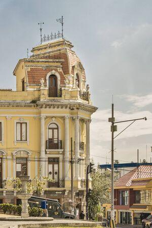 neo classical: QUITO, ECUADOR, OCTOBER - 2015 - Traditional neo classical style buildings at historic center of Quito, Ecuador.