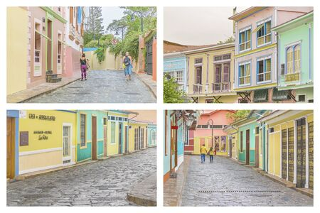 guayaquil: GUAYAQUIL, ECUADOR - OCTOBER - 2015 - Photo set of Las Penas, an emblematic neighborhood of Guayaquil known for its colonial architecture.