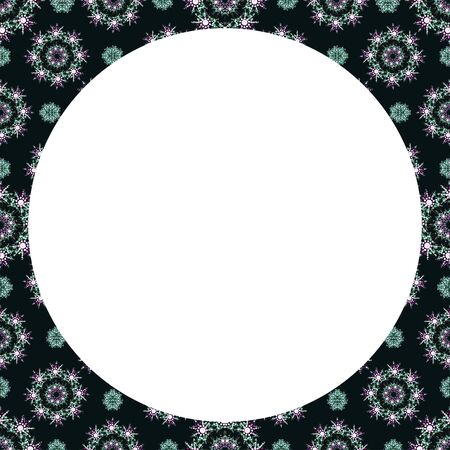 stationery border: White background with luxury pattern design borders Stock Photo