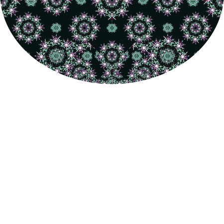 sophisticate: White background with luxury pattern design borders Stock Photo