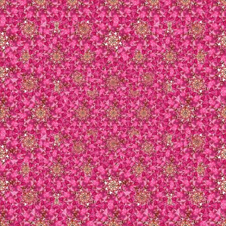 manipulate: Digital collage and manipulation technique ditsy floral collage motif seamless pattern mosaic in mixed tones