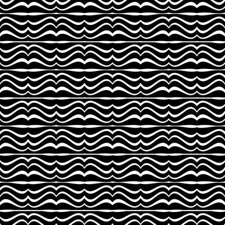 moder: Digital abstract geometric seamless pattern design moder zebra motif in black and white colors.