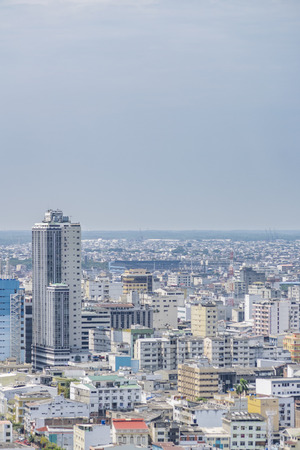 guayaquil: Aerial view of Guayaquil from cerro santa ana. Stock Photo