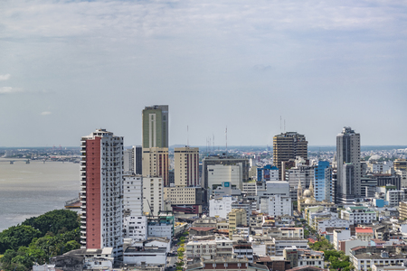 guayaquil: Aerial view of Guayaquil from cerro santa ana. Editorial