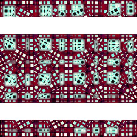 decorated: White background with decorated patterned borders.