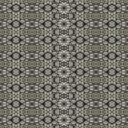 able: Digital art style technique modern oriental geometric check ornate abstract seamless pattern design in silver tones.