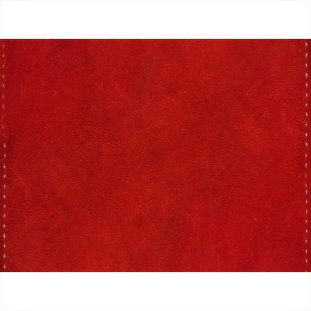 Weiß Briefpapier Hintergrund mit Stoff rot Wildleder Textur Grenzen