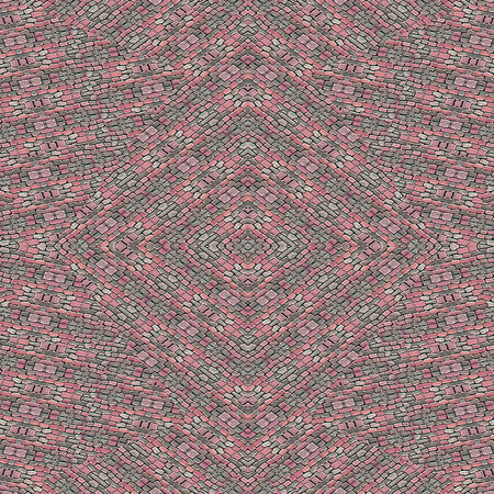 cobblestone: Cobblestone motif digital collage abstract geometric pattern design in multicolored tones