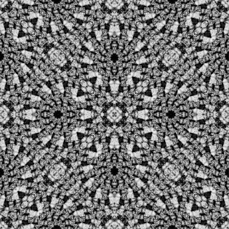 mirrored: Digital art abstract geometric seamless pattern background design in vibrant black and white colors