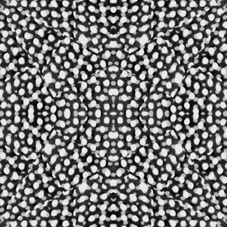 giftware: Digital photo manipulation technique modern camouflage style motif abstract pattern design in black and white colors. Stock Photo