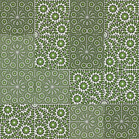 patchwork pattern: Digital collage technique ornate patchwork pattern design Stock Photo