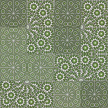 patchwork pattern: Digital collage technique ornate patchwork pattern design Stock Photo