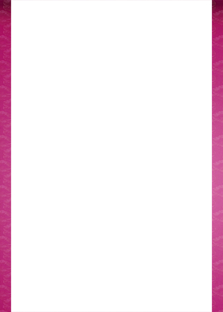 patterned: White background with elegatn pink floral patterned design borders Stock Photo