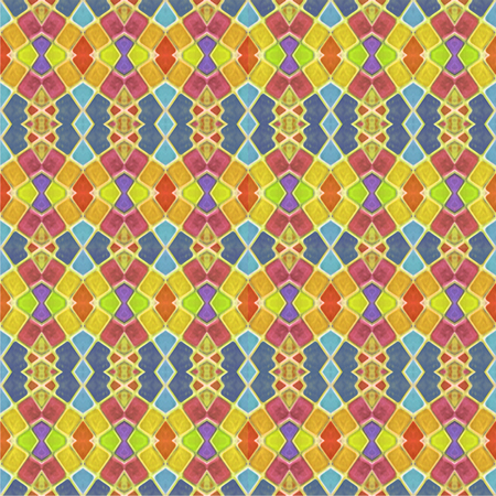 photo collage: Colorful multicolored geometric abstract digital photo collage technique seamless pattern background design in mixed colors.