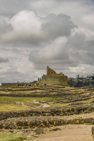 past civilization: Ingapirca, a touristic location in which is located an ancient inca temple located in Azuay province, Ecuador