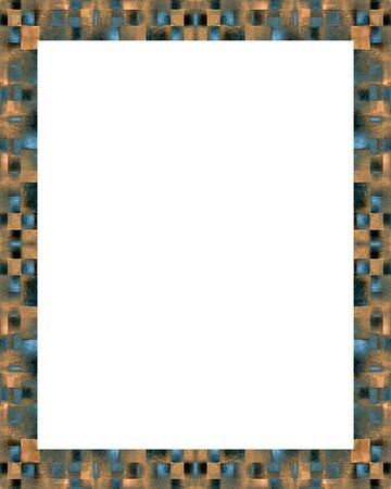 White Frame Background With Decorated Modern Check Design Borders ...