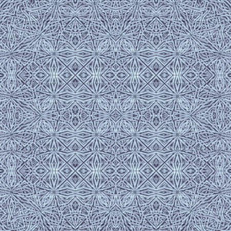 intersecting: Digital art style interlaced abstract geometric seamless pattern mosaic in blue colors