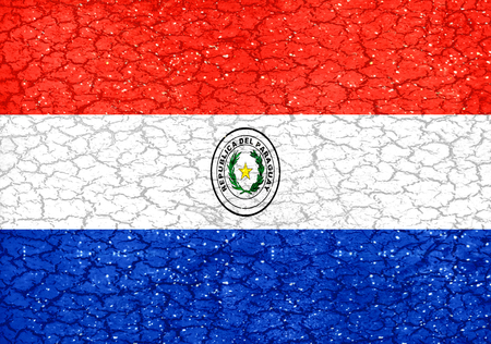 paraguay: Paraguay national flag in grunge style design Stock Photo