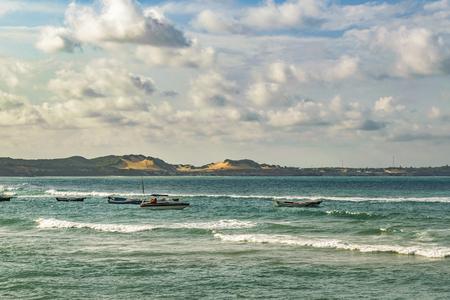 PIPA, BRAZIL, JANUARY -  2016 - Seascape scene in Pipa, a touristic watering place located in Brazil, South America Editorial