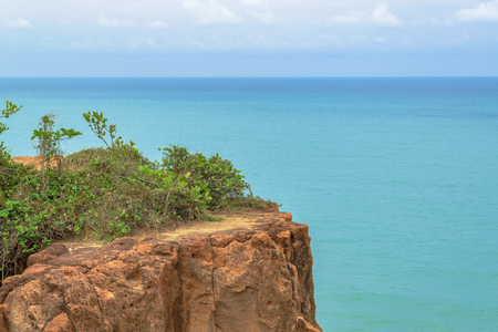 Aerial view landscape scene from Pipa, Brazil