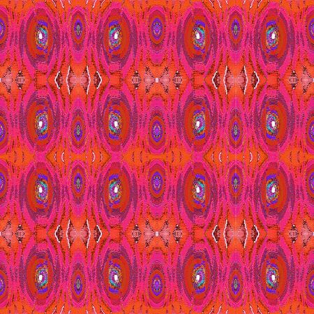 Digital collage technique modern ornate seamless pattern design in colorful mixed tones
