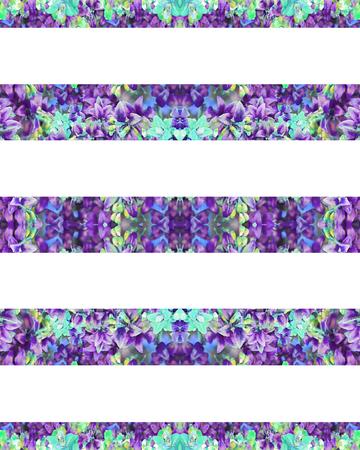 Digital technique floral stripes pattern background design in
