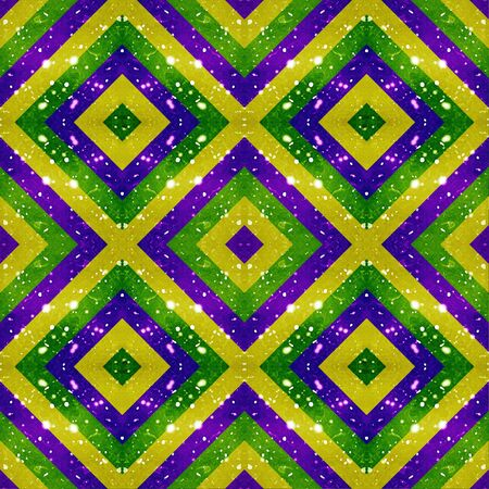 Digital abstract geometric seamless pattern background design in vivid mixed colors