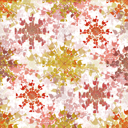 Digital photo collage and manipulation technique floral collage motif seamless pattern mosaic in vivid colorful mixed tones Stock Photo