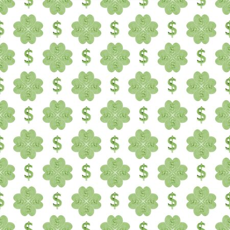 conversational: Conversational seamless pattern design with dollar symbol motif design in green and white colors