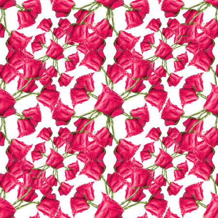 Digital photo collage and manipulation technique nature floral collage red roses motif seamless pattern design in red tones Stock Photo