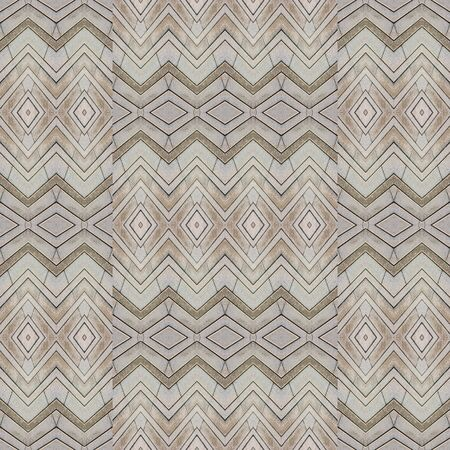 Digital style technique modern abstract geometric ethnic style seamless pattern design in pale, brown colors Stock Photo