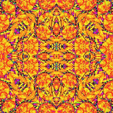 Digital collage technique colorful intricate modern ornate seamless pattern design