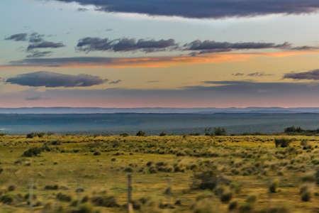 Patagoniana landscape scene at Santa Cruz province, Argentina