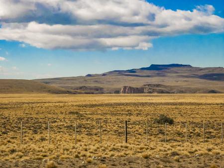 Patagonian landscape scene at Santa Cruz province, Argentina Stock Photo