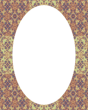 envelope: White circle frame background with decorated design borders