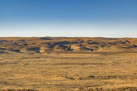 Landscape patagonian scene at Santa Cruz province, Argentina Stock Photo