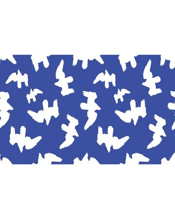 Stationery white background with birds silhouette graphic design borders Stock Photo